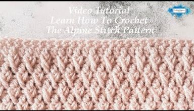 How To Crochet The Alpine Stitch Video Tutorial by Crafting Happiness Large - image 1551966065_hqdefault-384x220 on https://knitting-crocheting-yarn.com