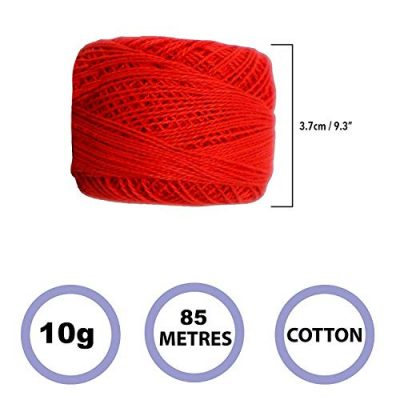 Crochet Yarn - 10 Pcs Knitting Yarn Assorted Colours - Crochet Cotton Yarn Thread 10 Grams/85 Meters - Perfect for Knit Works, Applique, DIY Art and Craft Projects, Glove, Blankets - image 411-1A+F2jL-400x400 on https://knitting-crocheting-yarn.com