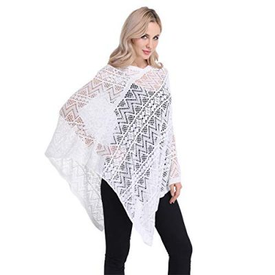 Womens Cape Shawl Wrap,Casual Knitted V Neck Poncho Blanket Pullover Crochet Patterns Ladies - image 411t6ye6RDL-400x400 on https://knitting-crocheting-yarn.com