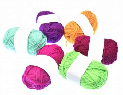 RayLineDo® Pack 20 x 25g Ball Assorted Colors 100% Acrylic Knitting Yarn Crochet Crafts Total of 900m Colourful Yarn with 3 Crochets - image 413ZdU1-1dL-400x308 on https://knitting-crocheting-yarn.com