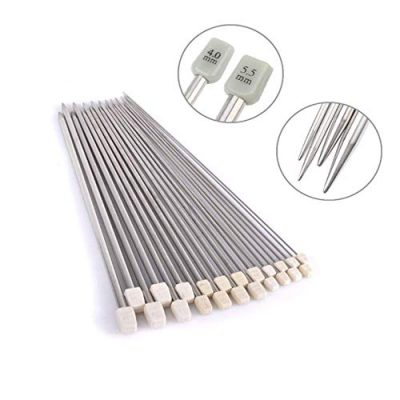 Metal Knitting Needles Long Knitting Needles Metal Knitting Needles Set in case Knitting Needles Set 2.0mm 2.5mm 3.0mm 3.5mm 4.0mm 4.5mm 5.0mm 5.5mm 6.0mm 7.0mm 8.0mm 11 Pairs (22 Pcs) - image 415JevIfSQL-400x400 on https://knitting-crocheting-yarn.com