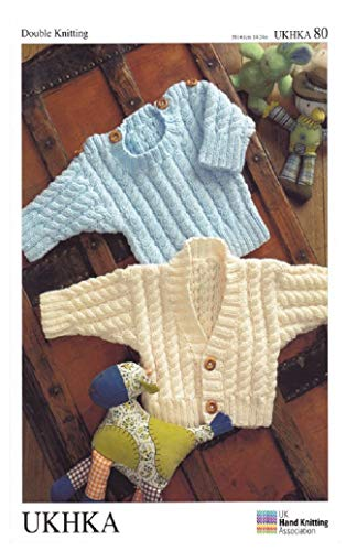 Double Knitting DK Pattern for Baby Long Sleeved Cardigan & Sweater Ribbed Detail (UKHKA 80) - image 419-y-TUsjL on https://knitting-crocheting-yarn.com
