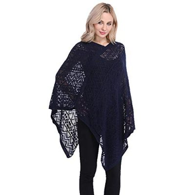 Womens Cape Shawl Wrap,Casual Knitted V Neck Poncho Blanket Pullover Crochet Patterns Ladies - image 41Bg0Y3E7zL-400x400 on https://knitting-crocheting-yarn.com