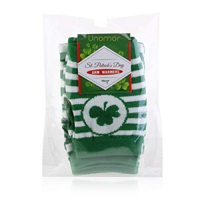 St. Patrick's Day Accessories Costume Gloves Shamrock Fingerless Arm Warmers Unisex - 2 Pair - image 41H1Ez2Pc+L-400x400 on https://knitting-crocheting-yarn.com