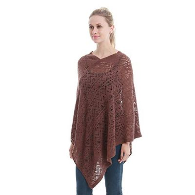 Womens Cape Shawl Wrap,Casual Knitted V Neck Poncho Blanket Pullover Crochet Patterns Ladies - image 41Jmh1dHE0L-400x400 on https://knitting-crocheting-yarn.com