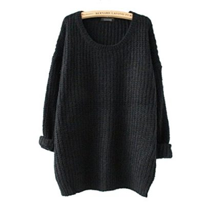 Minetom Womens Ladies Oversized Baggy Long Thick Knitted Long Sleeve Top Sweater Jumper - image 41NMkydjFcL-400x400 on https://knitting-crocheting-yarn.com