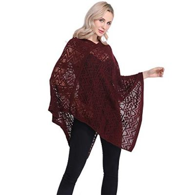Womens Cape Shawl Wrap,Casual Knitted V Neck Poncho Blanket Pullover Crochet Patterns Ladies - image 41PzgZuFPzL-400x400 on https://knitting-crocheting-yarn.com