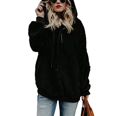 Kobay Womens Christmas Tops, Ladies' Hooded Sweatshirt Coat Winter Warm Wool Zipper Pockets Cotton Coat Outwear Blouse Fashion Loose Clothes Yours Clothing Gifts for Women T-Shirt Pullover - image 41Ti6+1ZC8L-400x400 on https://knitting-crocheting-yarn.com
