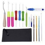 Crochet Hooks,Lighted Crochet Hooks Set with Ergonomic Handle,Crochet Needles with Case - image 41W12gzqf5L-150x150 on https://knitting-crocheting-yarn.com