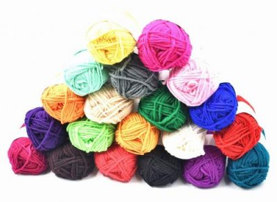 RayLineDo® Pack 20 x 25g Ball Assorted Colors 100% Acrylic Knitting Yarn Crochet Crafts Total of 900m Colourful Yarn with 3 Crochets - image 41dWjgL1erL-400x292 on https://knitting-crocheting-yarn.com
