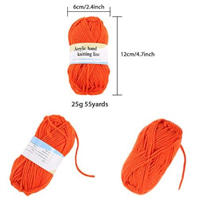 PP OPOUNT 30 Roll Acrylic Yarn Skeins, 1650 Yards Crochet Craft Yarn with Reusable Canvas Bag Includes 2 Crochet Hooks, 2 Pieces Weaving Needles, 3 Pieces Locking Stitch Markers for Crochet, Knitting - image 41kD0urTnLL-400x400 on https://knitting-crocheting-yarn.com