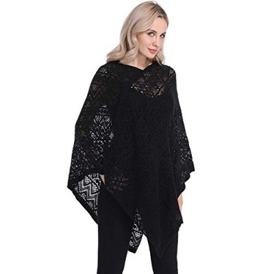 Womens Cape Shawl Wrap,Casual Knitted V Neck Poncho Blanket Pullover Crochet Patterns Ladies - image 41kq5ggL+4L-400x400 on https://knitting-crocheting-yarn.com