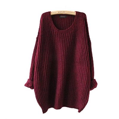 Minetom Womens Ladies Oversized Baggy Long Thick Knitted Long Sleeve Top Sweater Jumper - image 41z60ydW3RL-400x400 on https://knitting-crocheting-yarn.com