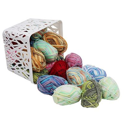 20 x 25g Piece Multicolour Knitting Crochet Yarn Set of 75 Meters with 2 x crochet hooks - Assortment Colourful Acrylic Soft Yarn - Thick Yarn Bundle for Knitting Jumpers, Cardigans, Clothes, Blankets - image 512EWX9mEOL-400x400 on https://knitting-crocheting-yarn.com