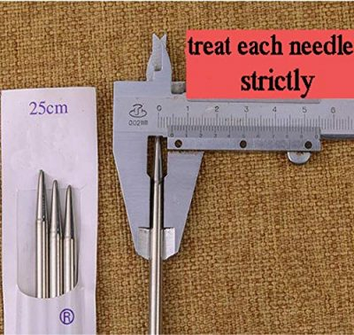 Knitting Needles Stainless Steel Single Pointed Knitting Needles Kit Set Tools Supplies in Case - image 5159pojGnFL-400x378 on https://knitting-crocheting-yarn.com
