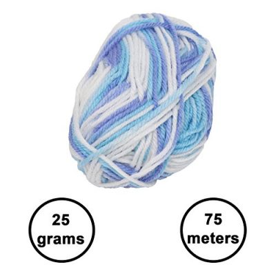 20 x 25g Piece Multicolour Knitting Crochet Yarn Set of 75 Meters with 2 x crochet hooks - Assortment Colourful Acrylic Soft Yarn - Thick Yarn Bundle for Knitting Jumpers, Cardigans, Clothes, Blankets - image 516CKZEMLGL-400x400 on https://knitting-crocheting-yarn.com