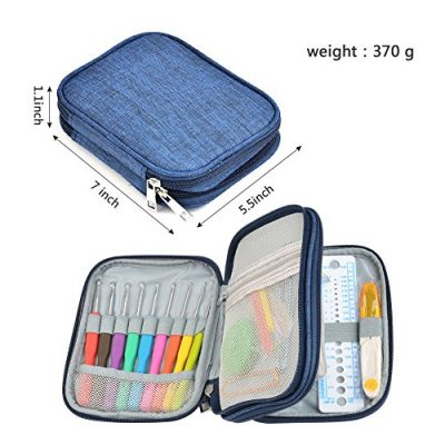 TIMESETL 72pcs Ergonomic Crochet Hooks Set with Complete Crochet Knitting Accessories & Double Zipped Case for Beginner - image 51DHXg9EAcL-400x400 on https://knitting-crocheting-yarn.com