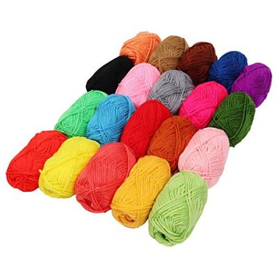 Kurtzy Yarn – 20Pcs Knitting Wool – 25g Crochet Yarn in Assorted Color – 75m Crochet Wool Perfect for Any Crochet ,Knitting Mini Project, Blankets ,Dolls, Mats ,Scarf & More - image 51J0TXkz-nL-400x400 on https://knitting-crocheting-yarn.com