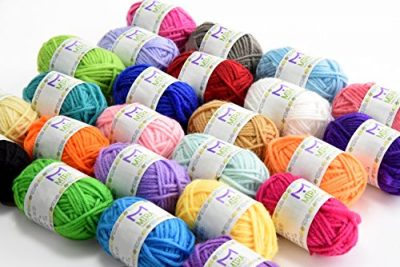 Premium Value Yarn Pack - 24 Acrylic Yarn Skeins - Assorted Colors - Perfect for Any Crochet and Knitting Mini Project - Resealable Bag - 10 GIFTS with Each Pack - image 51J65qeGMSL-400x267 on https://knitting-crocheting-yarn.com