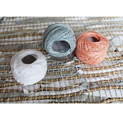 10 Pack Crochet Cotton Yarn Thread by Kurtzy- Plain Design in an Assortment of Colours - Threads for Knitting, Projects and Applique - 5 Grams - 47 Metres of Thread - High Quality Material - image 51NmCIhvdsL-400x400 on https://knitting-crocheting-yarn.com