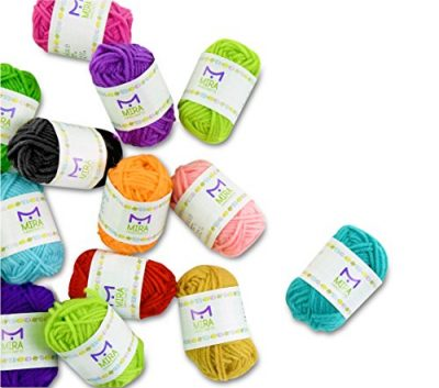 Basic Miniature Yarn Pack – 40 Yarn Bonbon Skeins 100% Acrylic - Total of 875 yards (800 m) Colourful Yarn - Perfect for any Crochet and Knitting Mini Project - image 51PNxU1sIaL-400x353 on https://knitting-crocheting-yarn.com