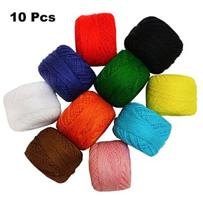 Crochet Yarn - 10 Pcs Knitting Yarn Assorted Colours - Crochet Cotton Yarn Thread 10 Grams/85 Meters - Perfect for Knit Works, Applique, DIY Art and Craft Projects, Glove, Blankets - image 51POFxSeAZL-400x400 on https://knitting-crocheting-yarn.com