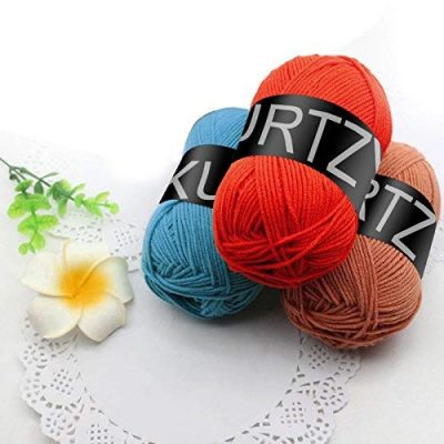 Kurtzy Yarn – 20Pcs Knitting Wool – 25g Crochet Yarn in Assorted Color – 75m Crochet Wool Perfect for Any Crochet ,Knitting Mini Project, Blankets ,Dolls, Mats ,Scarf & More - image 51QxfeEWsRL-400x400 on https://knitting-crocheting-yarn.com