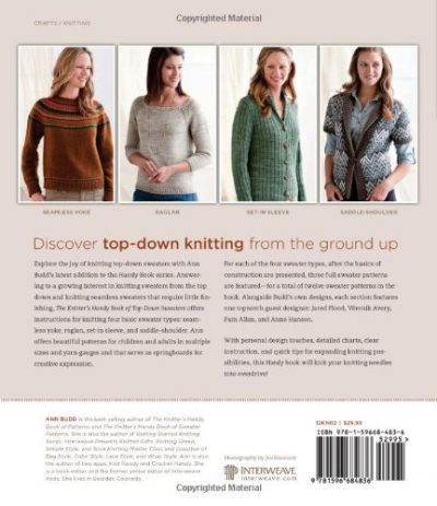 Knitter's Handy Book of Top-Down Sweaters - image 51SDPPQq-JL-400x463 on https://knitting-crocheting-yarn.com