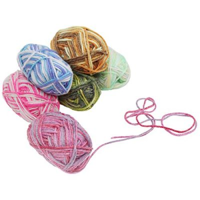 20 x 25g Piece Multicolour Knitting Crochet Yarn Set of 75 Meters with 2 x crochet hooks - Assortment Colourful Acrylic Soft Yarn - Thick Yarn Bundle for Knitting Jumpers, Cardigans, Clothes, Blankets - image 51Vt078IULL-400x400 on https://knitting-crocheting-yarn.com