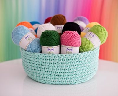 Mira Handcrafts 50g Large Yarn Bonbons – Total of 1200m Knitting and Crochet Yarn – Starter Kit Including 12 Multicolour Yarns and 7 Ebooks with Yarn Wool Patterns - image 51Z7zeQv-kL-400x325 on https://knitting-crocheting-yarn.com