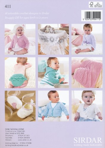 Sirdar Crochet Pattern Book 411 - The Baby Crochet Book - image 51a+2DUCWnL on https://knitting-crocheting-yarn.com