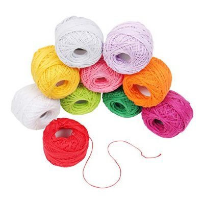 Crochet Yarn - 10 Pcs Knitting Yarn Assorted Colours - Crochet Cotton Yarn Thread 10 Grams/85 Meters - Perfect for Knit Works, Applique, DIY Art and Craft Projects, Glove, Blankets - image 51a-dACrGOL-400x400 on https://knitting-crocheting-yarn.com