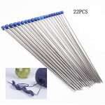 FANTESI 16 Pcs Large Eye Needles, Bent Tip Tapestry Needle Sewing Needles Darning Needles with Velvet Bag for Knitting Crochet - image 51a4WLjuL4L-150x150 on https://knitting-crocheting-yarn.com