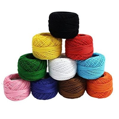 Crochet Yarn - 10 Pcs Knitting Yarn Assorted Colours - Crochet Cotton Yarn Thread 10 Grams/85 Meters - Perfect for Knit Works, Applique, DIY Art and Craft Projects, Glove, Blankets - image 51cNu84Fi+L-400x400 on https://knitting-crocheting-yarn.com
