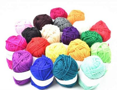 RayLineDo® Pack 20 x 25g Ball Assorted Colors 100% Acrylic Knitting Yarn Crochet Crafts Total of 900m Colourful Yarn with 3 Crochets - image 51gUVm7PYzL-400x306 on https://knitting-crocheting-yarn.com