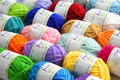 Premium Value Yarn Pack - 24 Acrylic Yarn Skeins - Assorted Colors - Perfect for Any Crochet and Knitting Mini Project - Resealable Bag - 10 GIFTS with Each Pack - image 51hPhMLaeOL-400x267 on https://knitting-crocheting-yarn.com