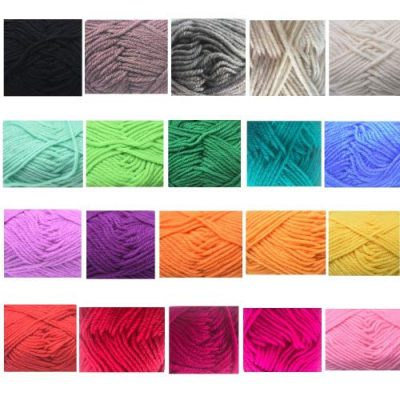 RayLineDo® Pack 20 x 25g Ball Assorted Colors 100% Acrylic Knitting Yarn Crochet Crafts Total of 900m Colourful Yarn with 3 Crochets - image 51irYJyQ5HL-400x400 on https://knitting-crocheting-yarn.com