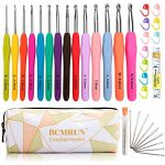 FUSION - Set of 9 High Quality Aluminium Crochet Hooks Needles with Colourful Soft Rubber Grip Handles - in sizes 2mm, 2.5mm, 3mm, 3.5mm, 4mm, 4.5mm, 5, 5.5, 6mm - comes with a handy organizer and a LIFETIME WARRANTY :) - image 51mizkJQNhL-150x150 on https://knitting-crocheting-yarn.com