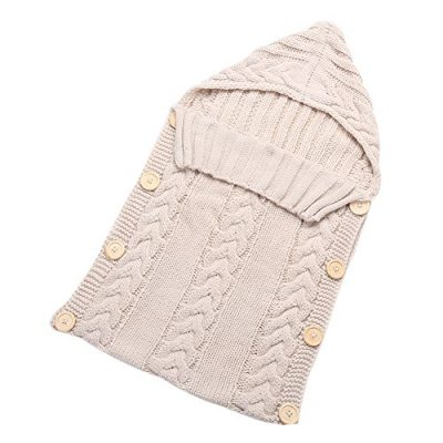 ESHOO Newborn Baby Cute Winter knitted Keep Warm Sleeping Bag Blanket Wrapped Layer - image 51z7kPB2ujL-400x400 on https://knitting-crocheting-yarn.com