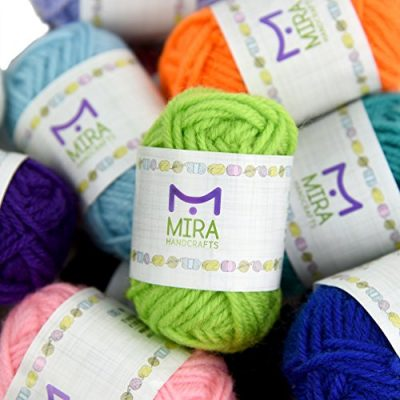 Basic Miniature Yarn Pack – 40 Yarn Bonbon Skeins 100% Acrylic - Total of 875 yards (800 m) Colourful Yarn - Perfect for any Crochet and Knitting Mini Project - image 51zM8FdRDDL-400x400 on https://knitting-crocheting-yarn.com