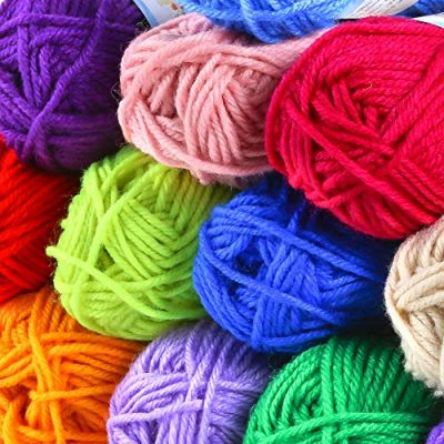 PP OPOUNT 30 Roll Acrylic Yarn Skeins, 1650 Yards Crochet Craft Yarn with Reusable Canvas Bag Includes 2 Crochet Hooks, 2 Pieces Weaving Needles, 3 Pieces Locking Stitch Markers for Crochet, Knitting - image 61DINl8YV4L-400x400 on https://knitting-crocheting-yarn.com