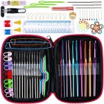 Knitting Needles Stainless Steel Single Pointed Knitting Needles Kit Set Tools Supplies in Case - image 61HVza+-XoL-150x150 on https://knitting-crocheting-yarn.com