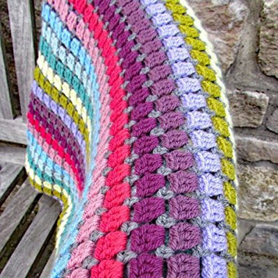 Vintage Rainbow Blanket Crochet Kit - the perfect gift for crochet lovers - everything you need to make this beautiful throw: yarn, crochet pattern, crochet hook, stitch markers and project bag - image 61MvvxoRFUL-400x400 on https://knitting-crocheting-yarn.com