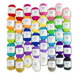 Mira Handcrafts 50g Large Yarn Bonbons – Total of 1200m Knitting and Crochet Yarn – Starter Kit Including 12 Multicolour Yarns and 7 Ebooks with Yarn Wool Patterns - image 61OaLywWjEL-150x148 on https://knitting-crocheting-yarn.com