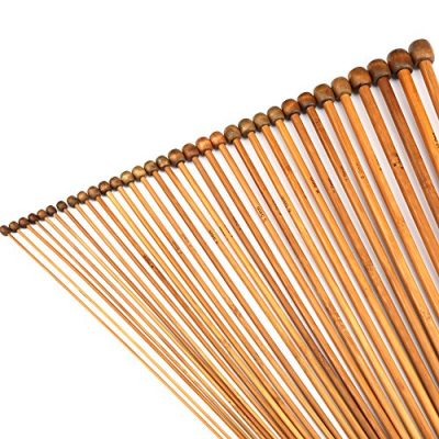 H&S® Set of 36 Pcs Single Pointed Bamboo Knitting Needles Case 2mm - 10mm - image 61QPK1dTU3L-400x400 on https://knitting-crocheting-yarn.com