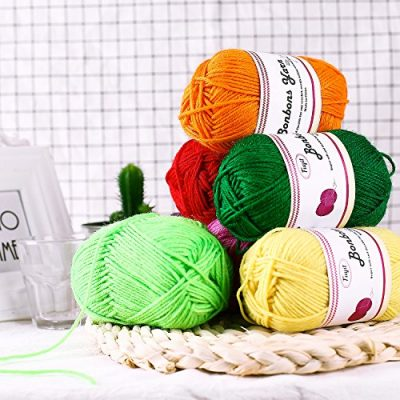 Fuyit Double Knitting Yarn 12x50g 100% Acrylic with 2 Crochet Hooks 1200 Meters Balls of Assorted DK Yarn Set Colourful Chunky - image 61Uj1rgrQhL-400x400 on https://knitting-crocheting-yarn.com