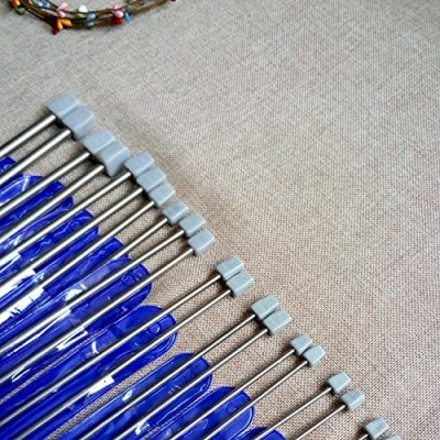 Dproptel Knitting Needles,Stainless Steel Single Pointed Knitting Needles Kit Set Sweater Staight Needle in Different Sizes (11pirs,22pcs,36cm Length) - image 61eBtXmdJ0L-400x400 on https://knitting-crocheting-yarn.com
