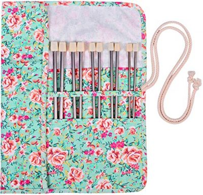 Knitting Needles Stainless Steel Single Pointed Knitting Needles Kit Set Tools Supplies in Case - image 61nFXv00lwL-400x383 on https://knitting-crocheting-yarn.com