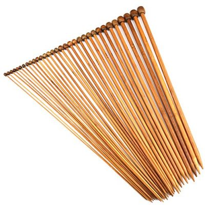 H&S® Set of 36 Pcs Single Pointed Bamboo Knitting Needles Case 2mm - 10mm - image 61yjn0AGzPL-400x400 on https://knitting-crocheting-yarn.com