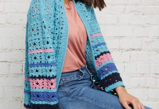 Learn to Crochet a Cardigan - Free Crochet Pattern & Video Tutorial for Beginners! (Part 1) - image Blazenka-Simic-Boro-Hummingbird-Cardigan-Cygnet-Pure-Wool-Superwash-DK-2-1-683x1024-320x220 on https://knitting-crocheting-yarn.com
